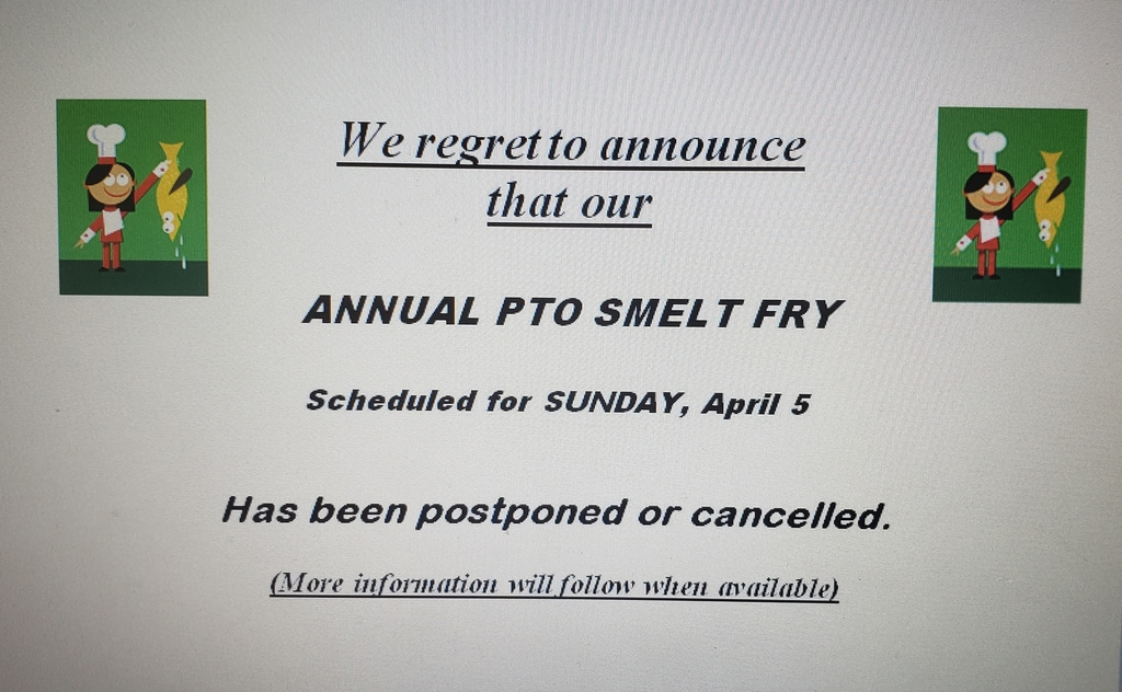 PTO Smelt Fry Postponed or Cancelled